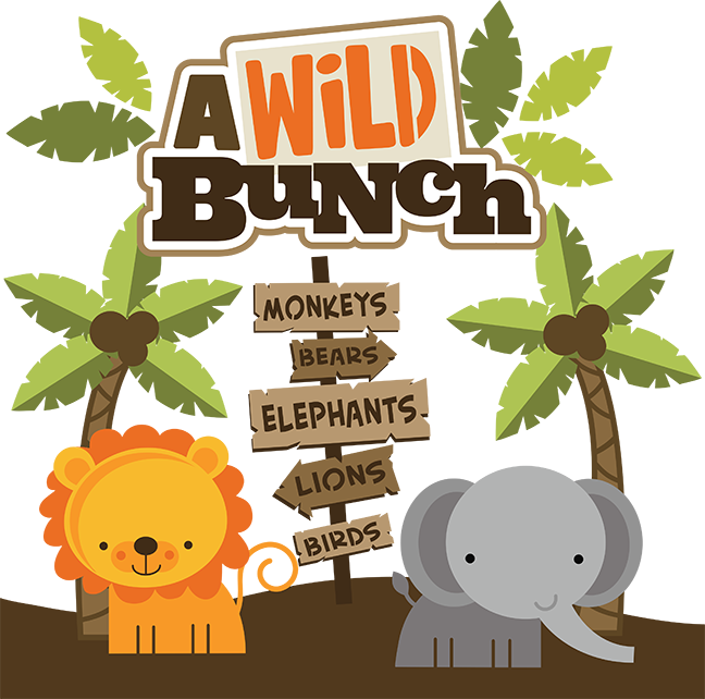Picture clipart zoo. A wild bunch svg