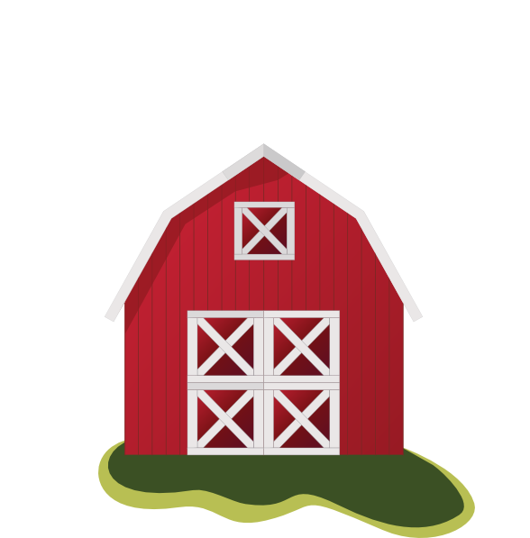 Clipart barn. Red
