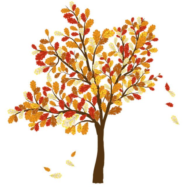 Colorful clip art for. Autumn clipart tree