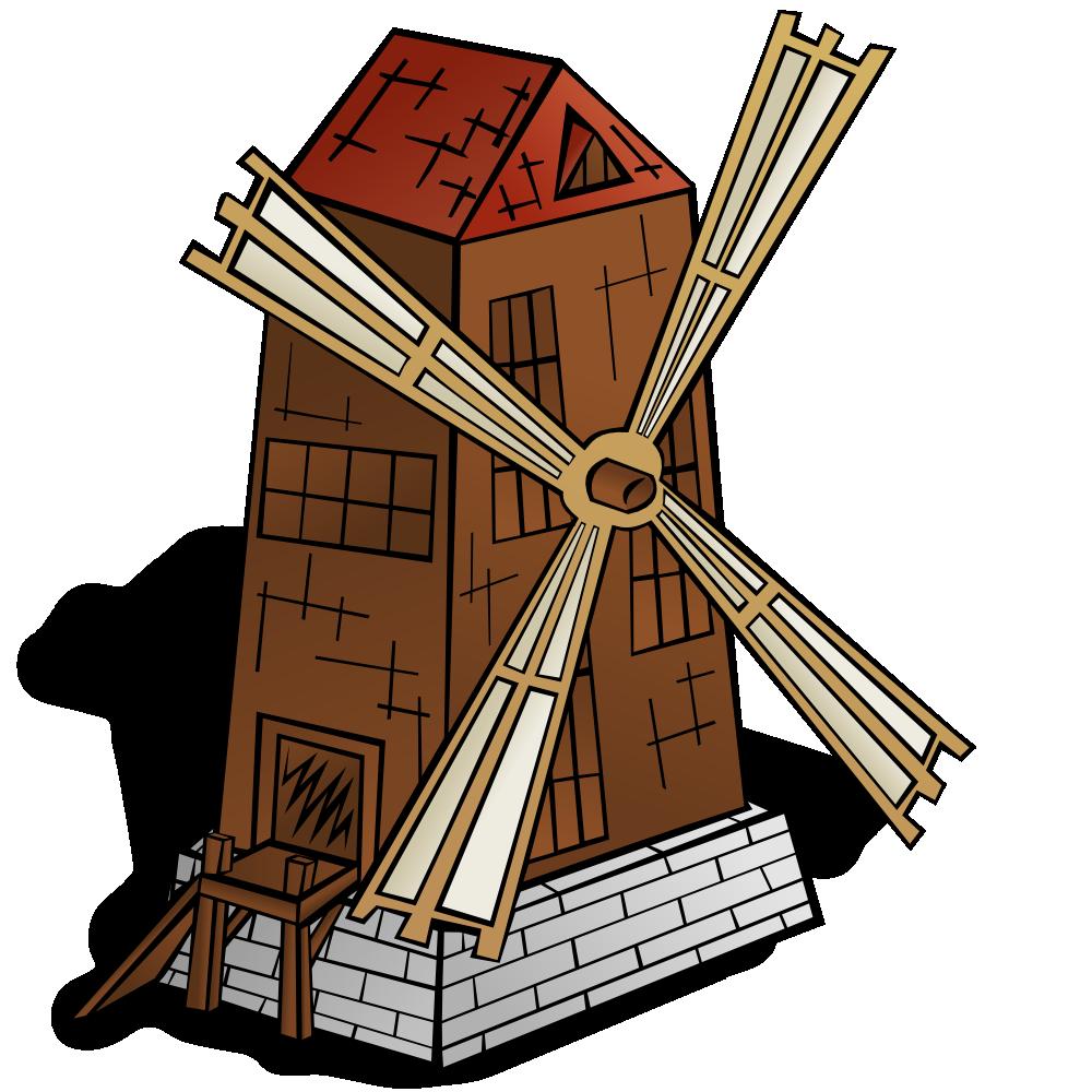 Silhouette clip art at. Wheel clipart windmill