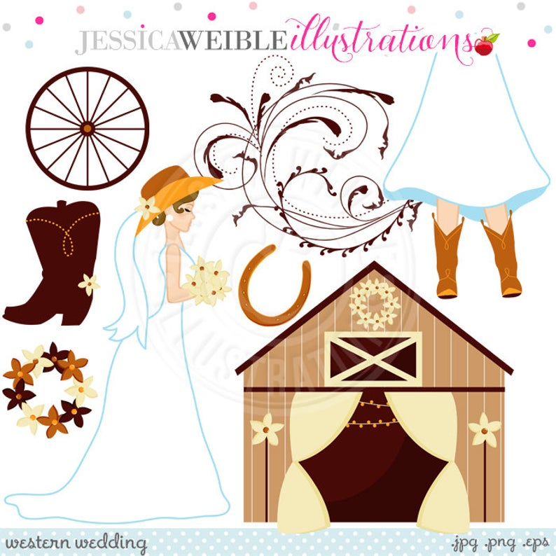 Clipart barn barn wedding. Western cute digital commercial