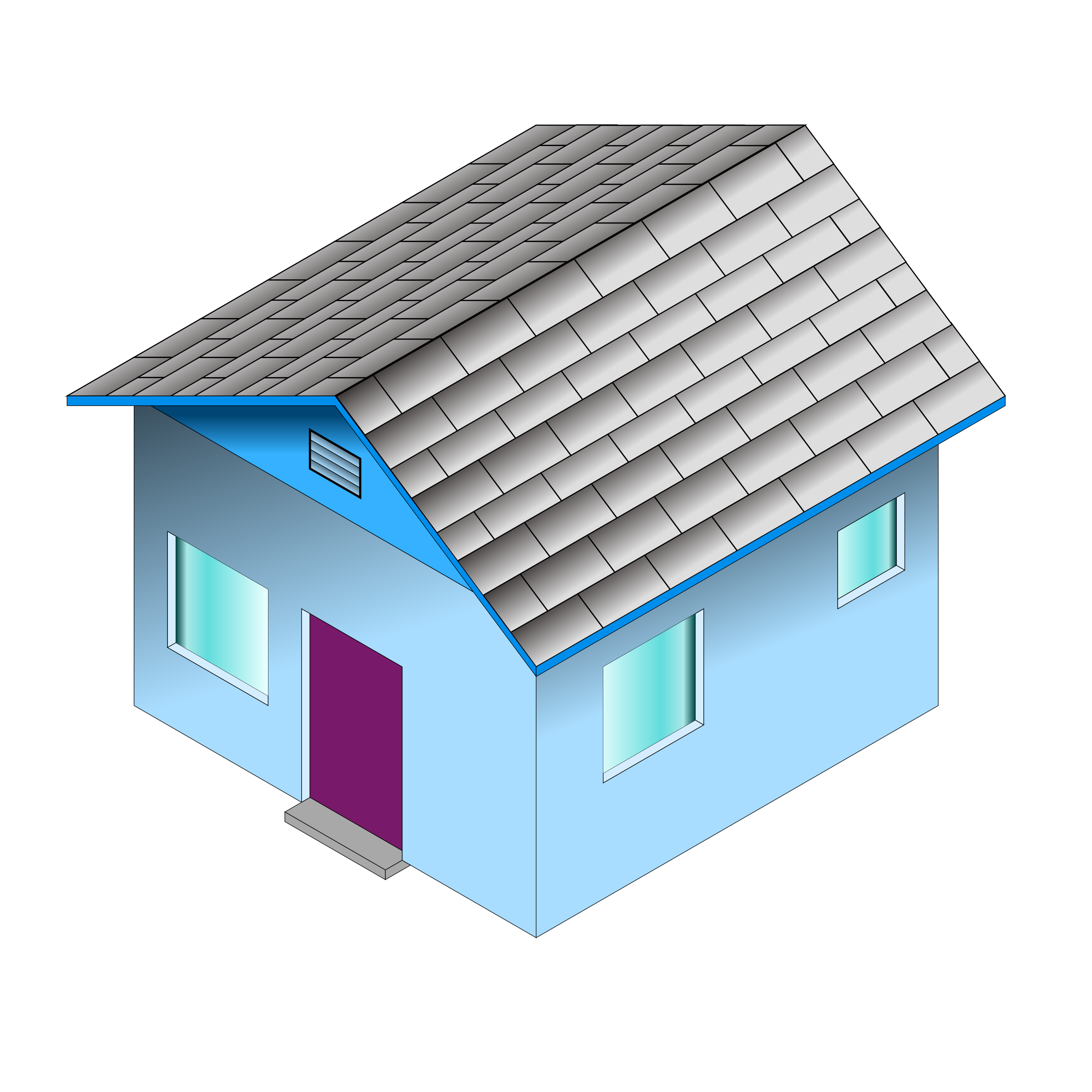 Small house png. Clipart blue big image