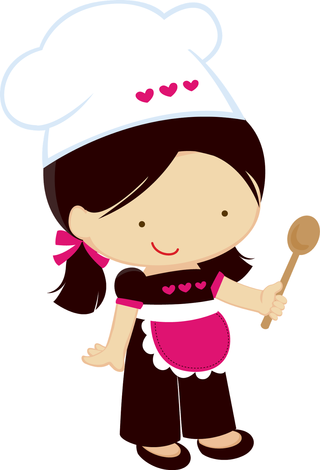 collection of chef. Lady clipart bakery