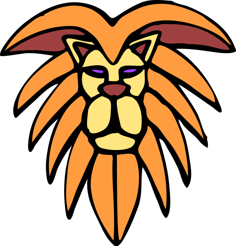 Funny faces face lion. Mouth clipart wide open mouth