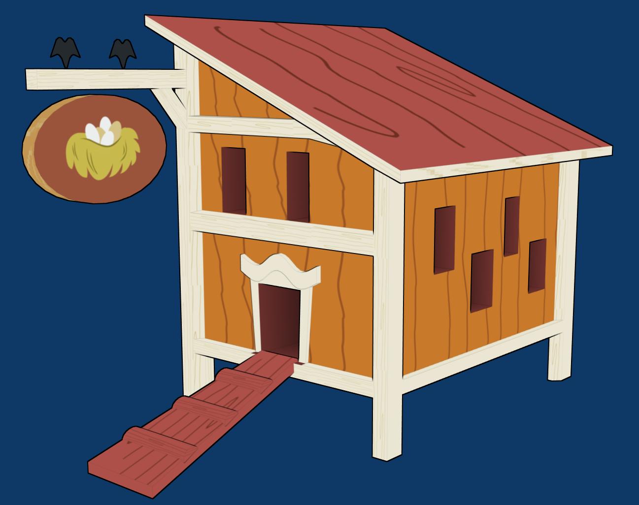 Heaven clipart house. Chicken coop clip art