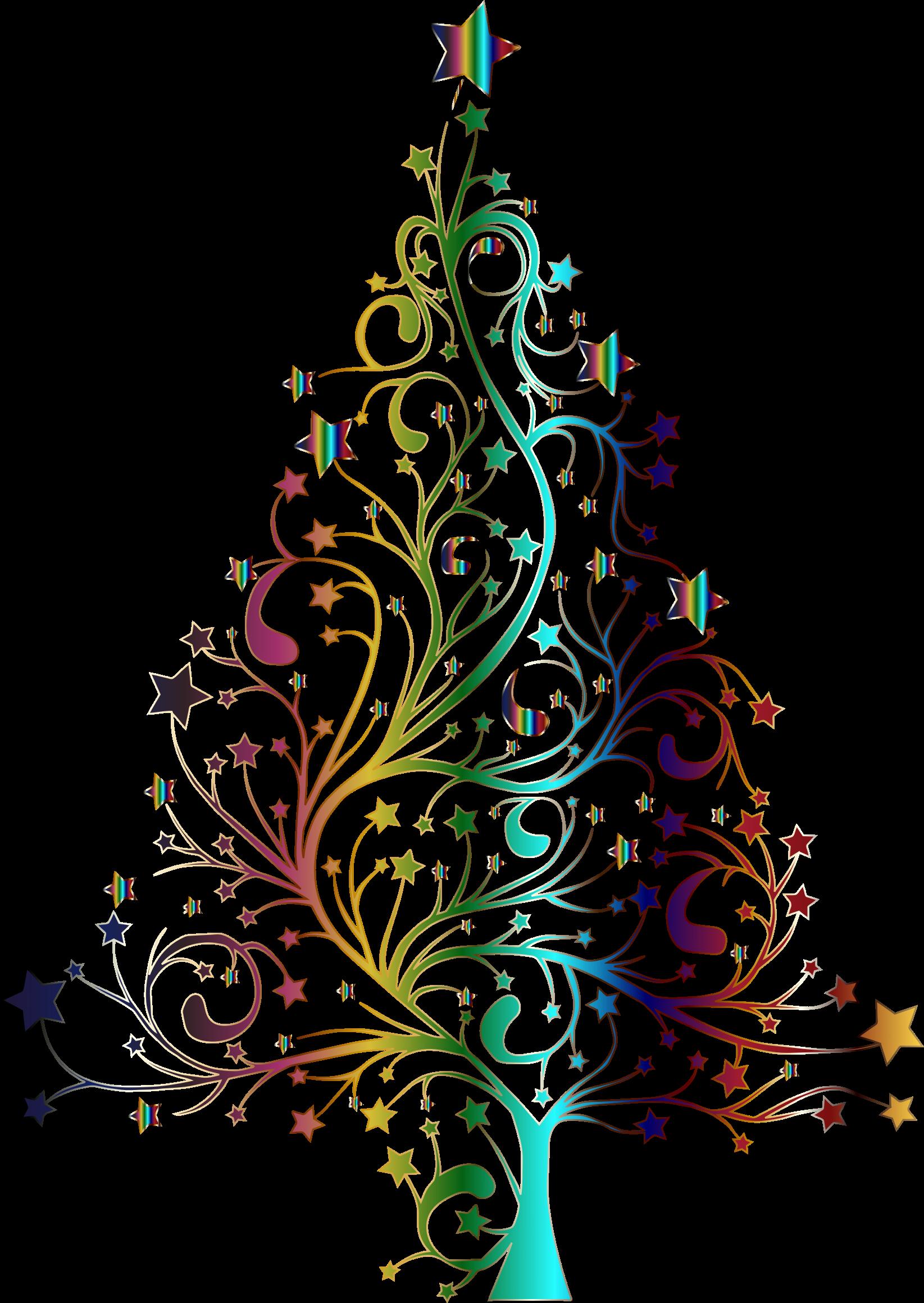 Flourish clipart christmas. Design tree free collection