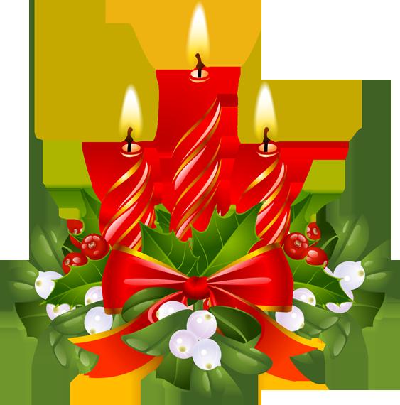 Poinsettias clipart candlestick. Christmas village santa tree