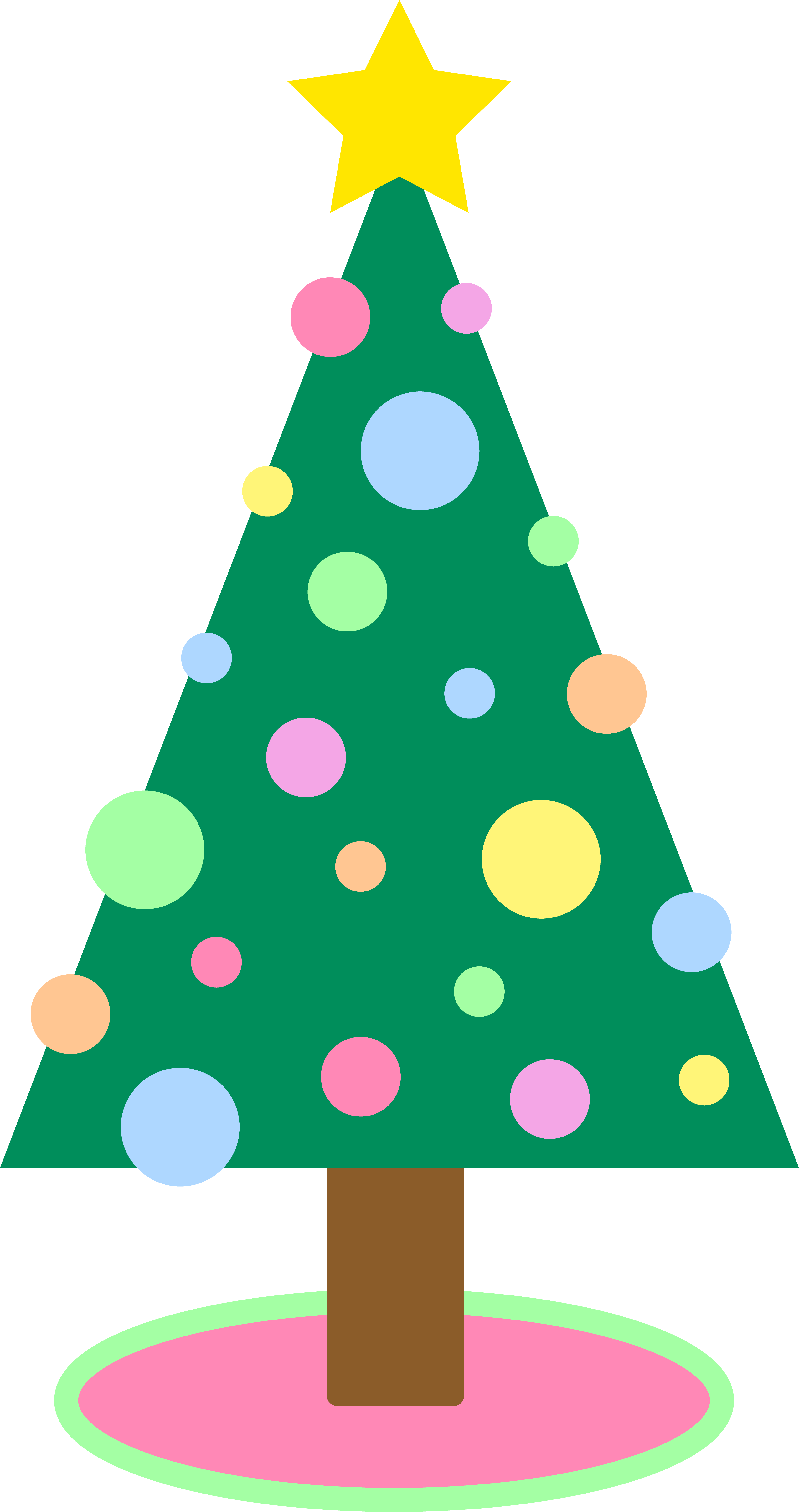 Tree clipart cute. Christmas colors collection clipartbarn