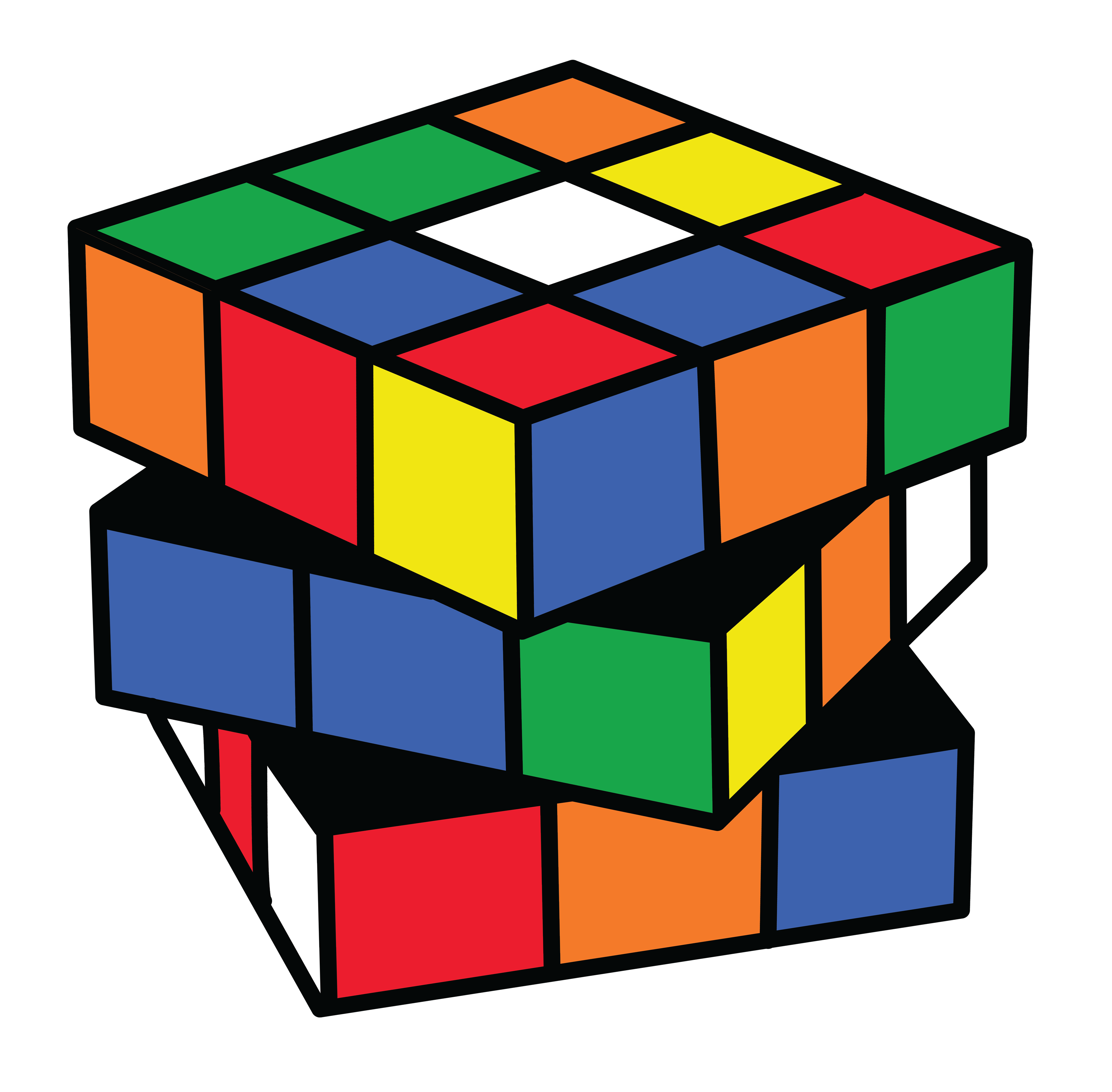 Puzzle clipart share toy. Rubix cube color clip