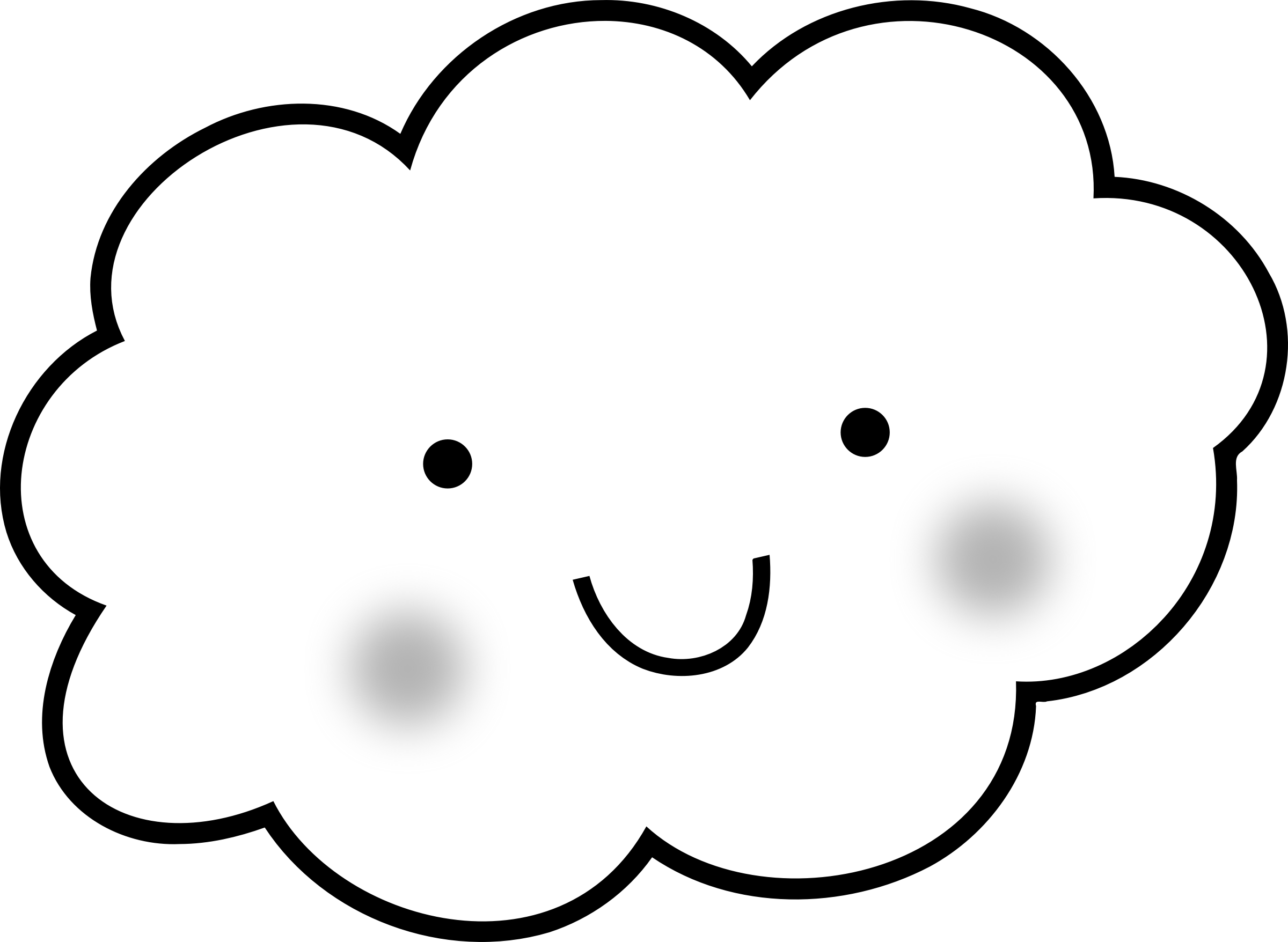 Free printable coloring pages. Thoughts clipart cloud