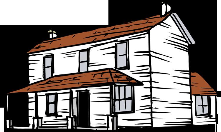 Farmhouse clipart housing. Ranch barn rancher on