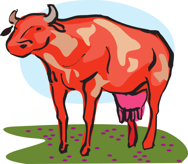 Cow clip art at. Family clipart red
