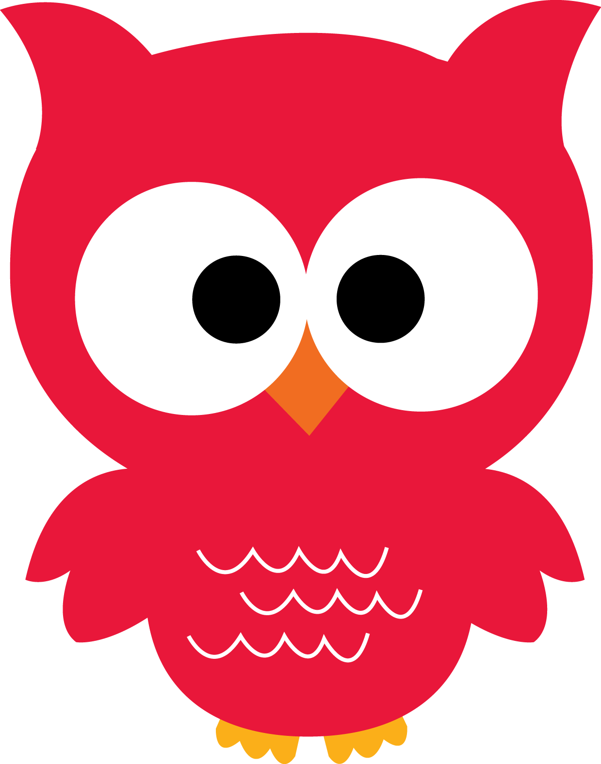 red clipart owls #140626918