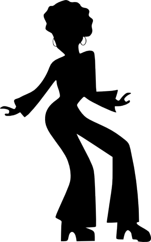 Lady clipart dance. Afro dancing woman clip