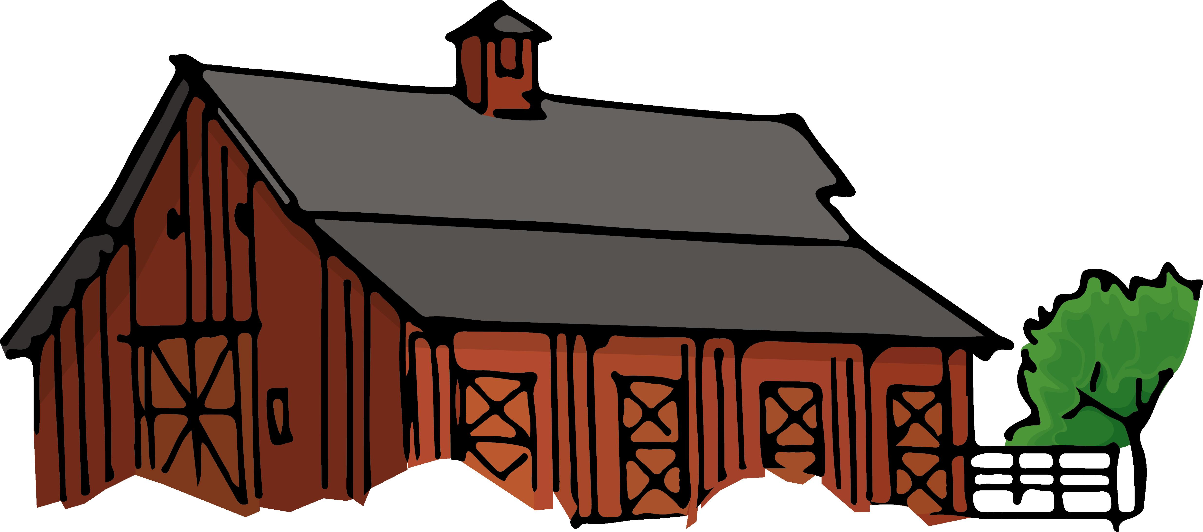 Clipart barn different building. Farmhouse clip art png