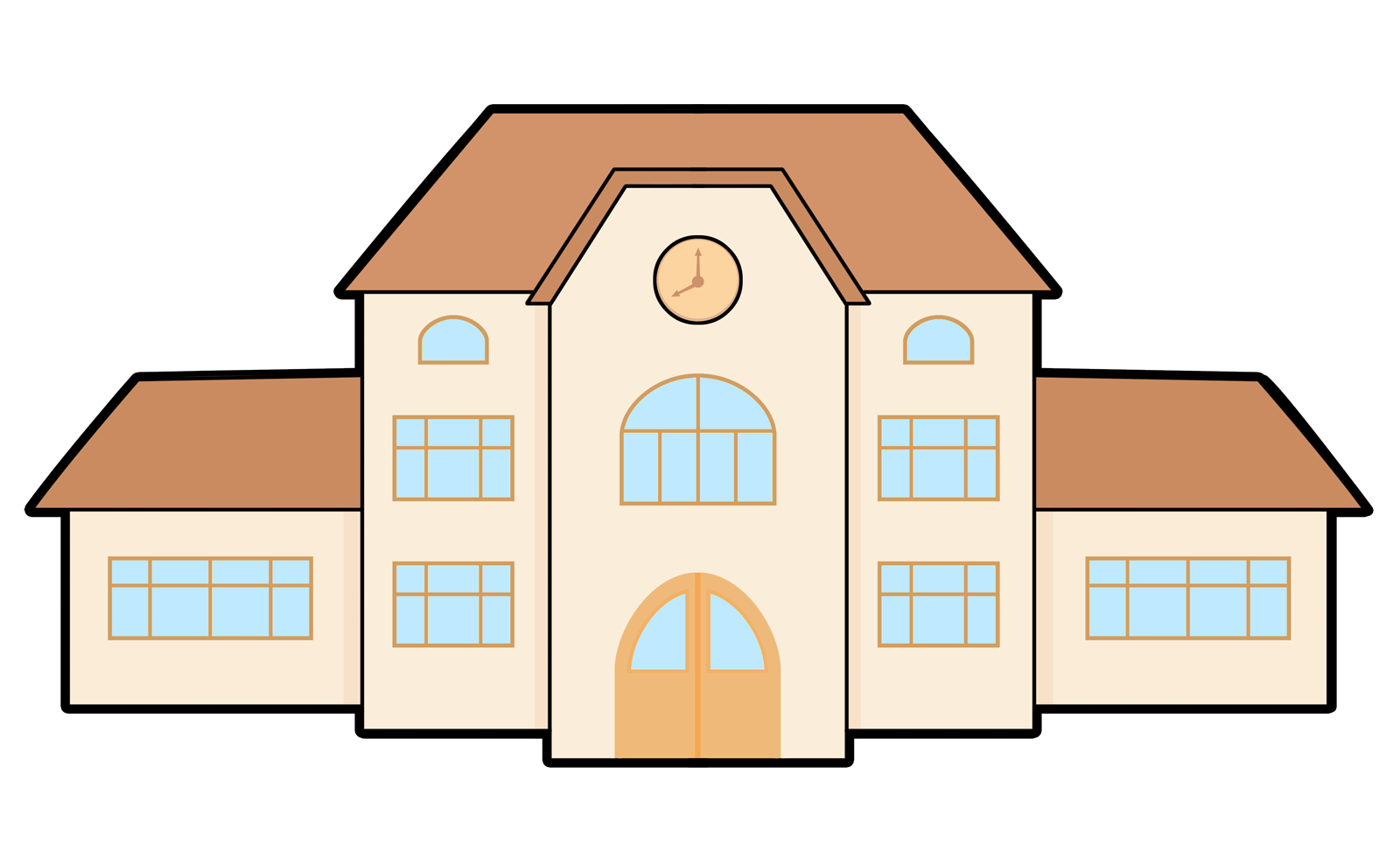 Clipart barn different building. School at getdrawings com