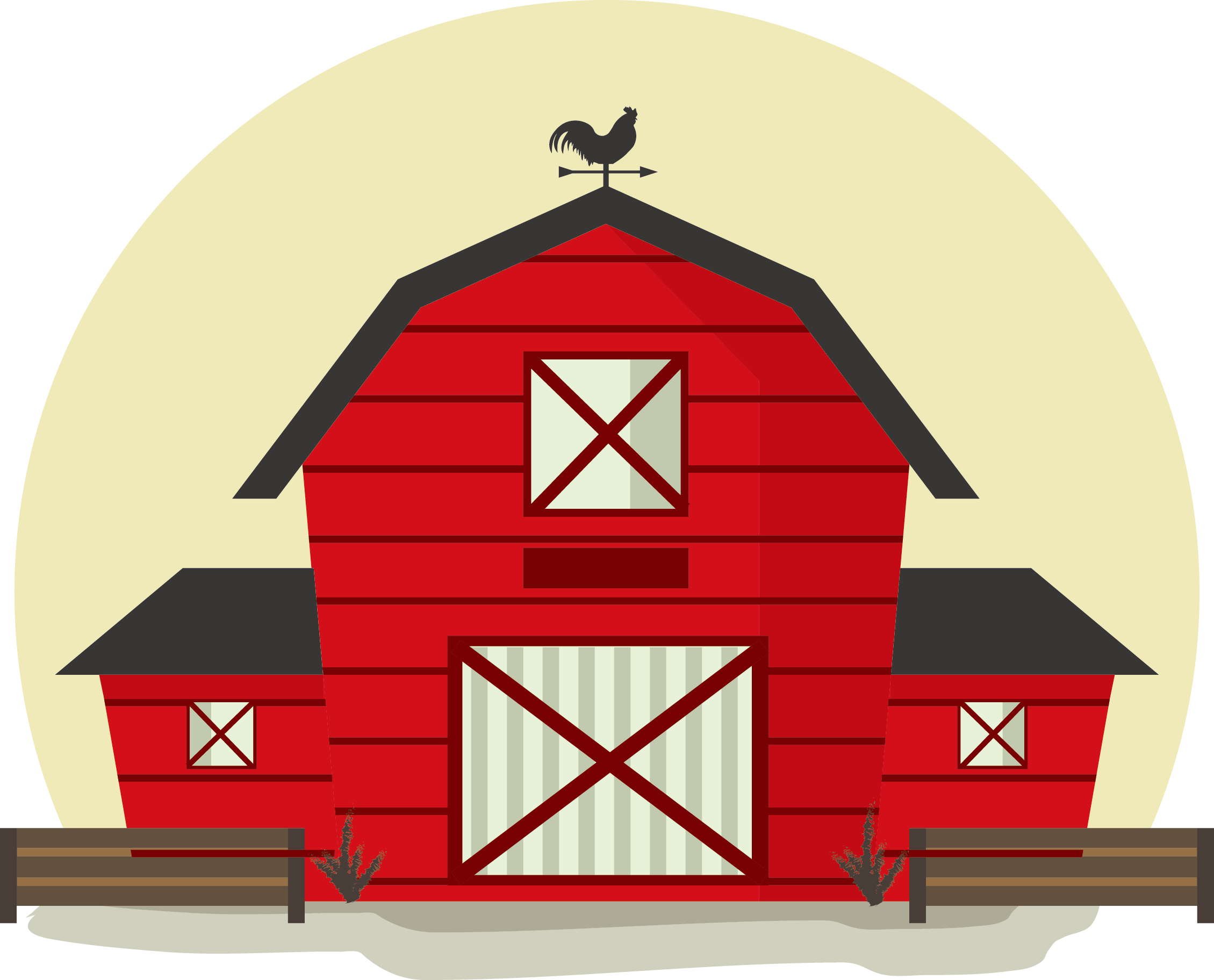 Clipart barn different building. Philippines cartoon illustration red