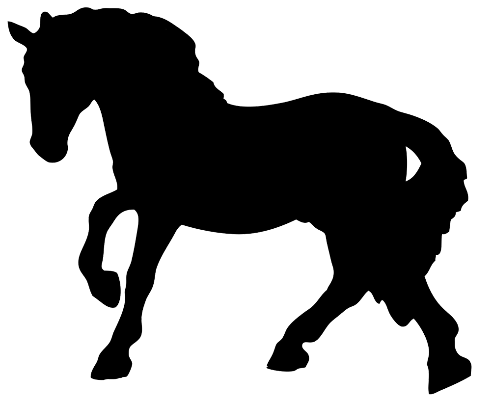 clipart horse swimming