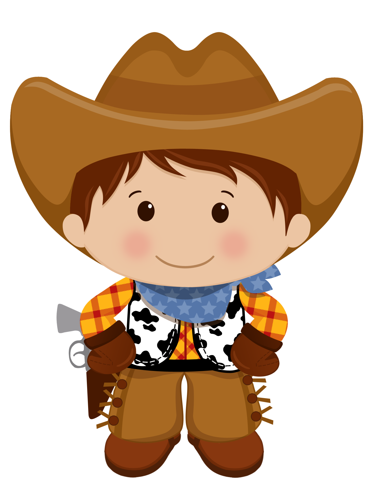 Hats clipart wild west. Brown haired cowboy vaqueros