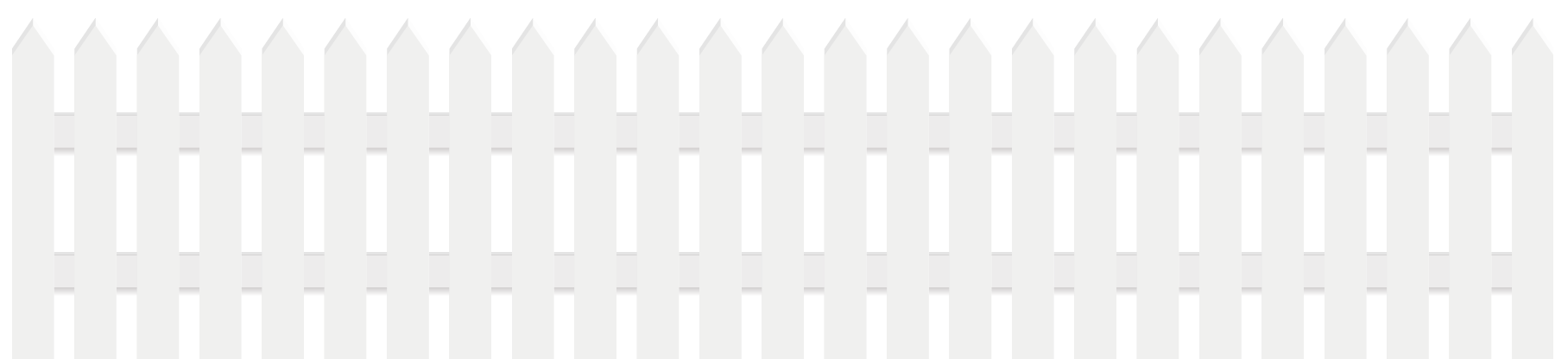 White . Fencing clipart picket fence