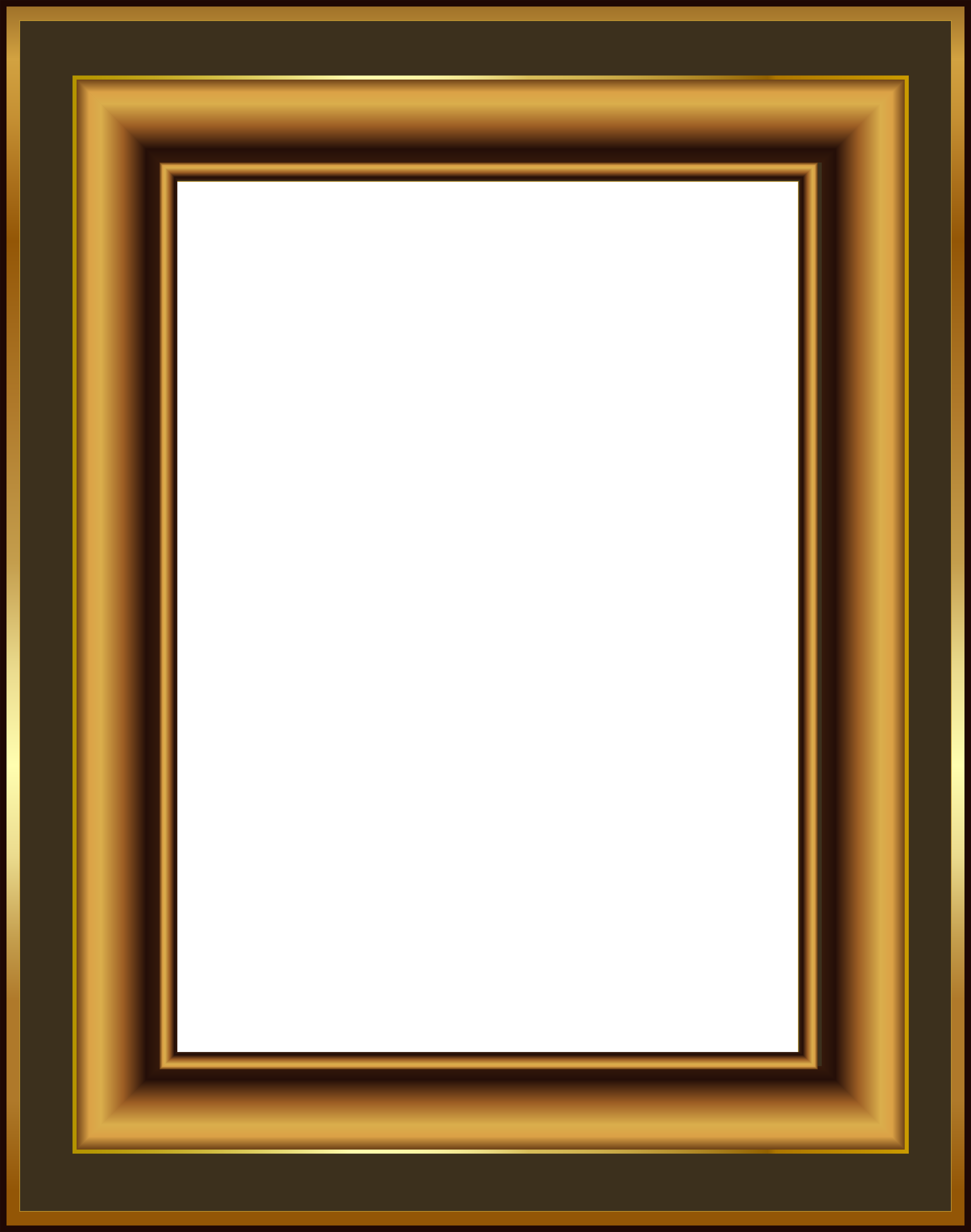 Brown and gold classis. Clipart gun frame