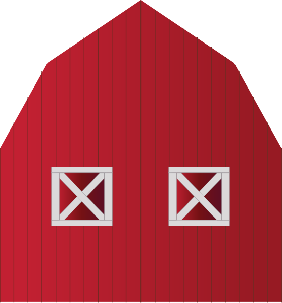 Classy red silhouette clip. Gate clipart barn