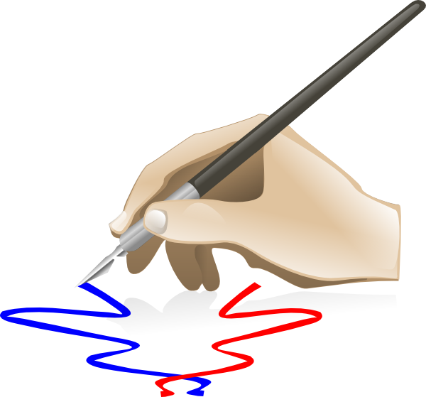 Draw clipart hand painting. Clip art at clkercom