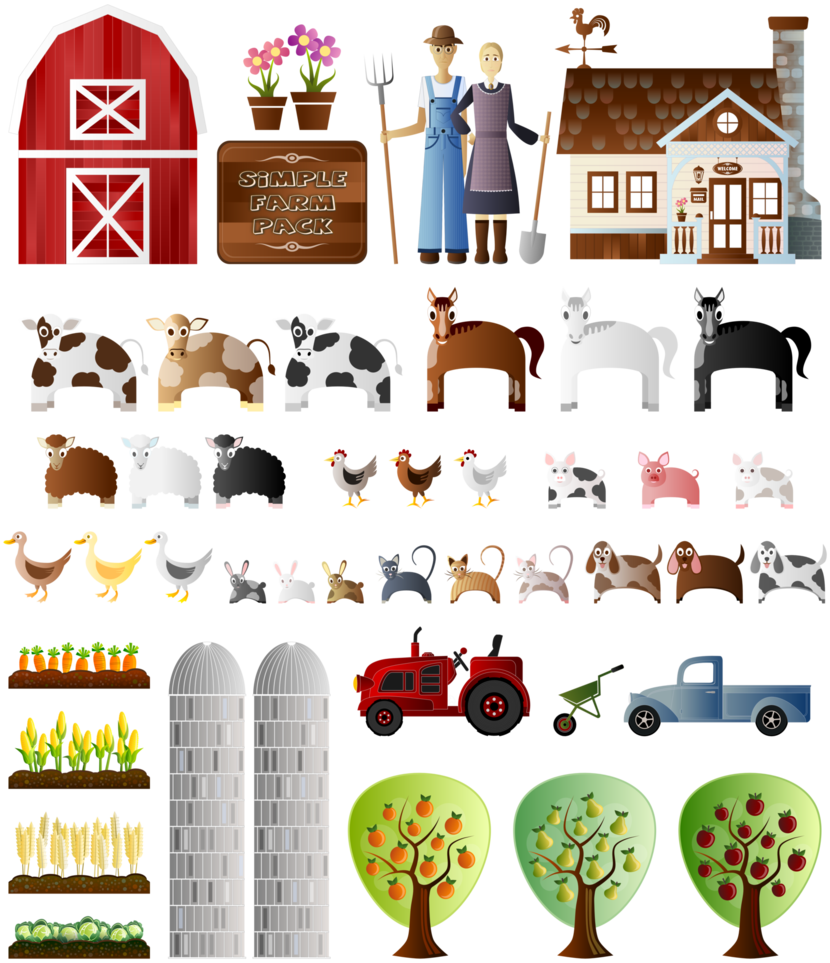 Farm clipart hay. Simple pack by viscious