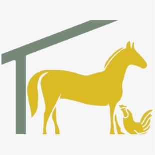 Barn mustang free . Farmhouse clipart horse shelter