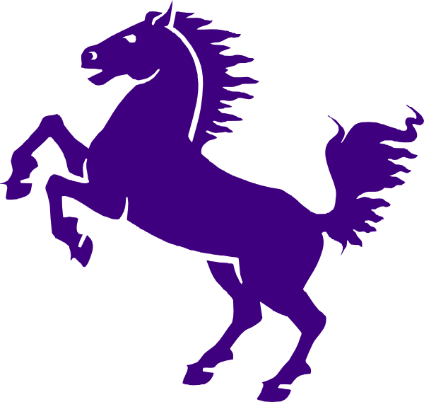 Purple clip art at. Mustang clipart bronco