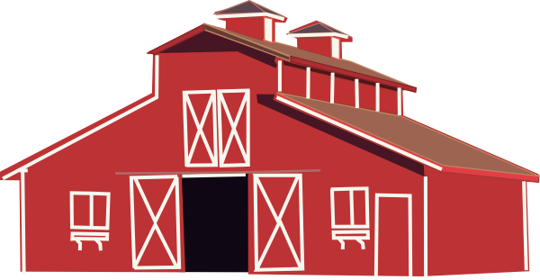Clipart barn large. Red clip art at
