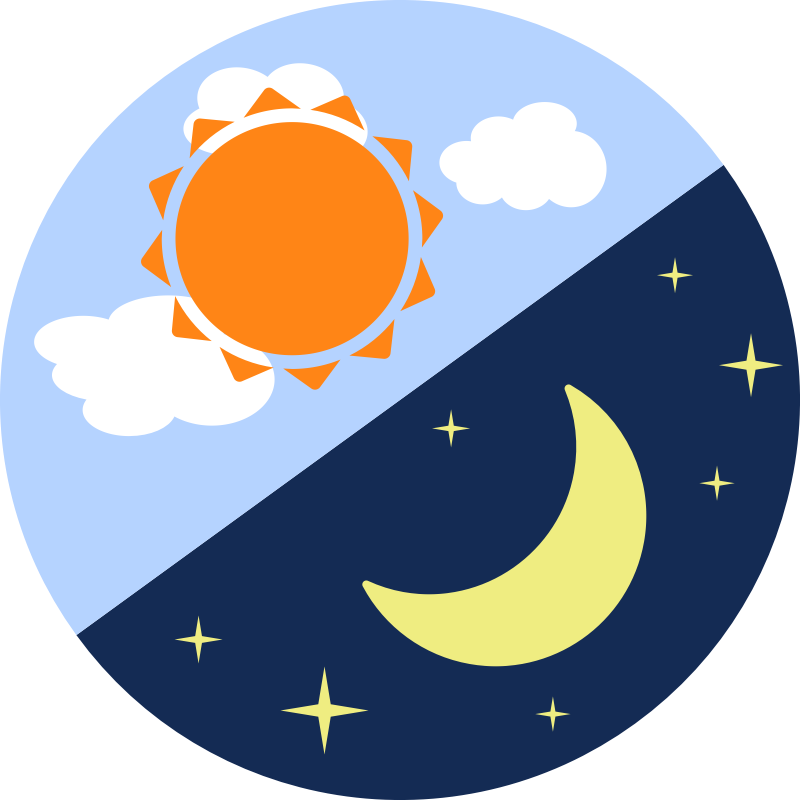 collection of time. Clipart moon night
