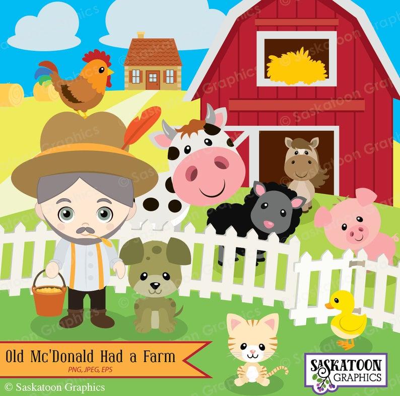 Mcdonald instant download file. Farm clipart old macdonald had a farm