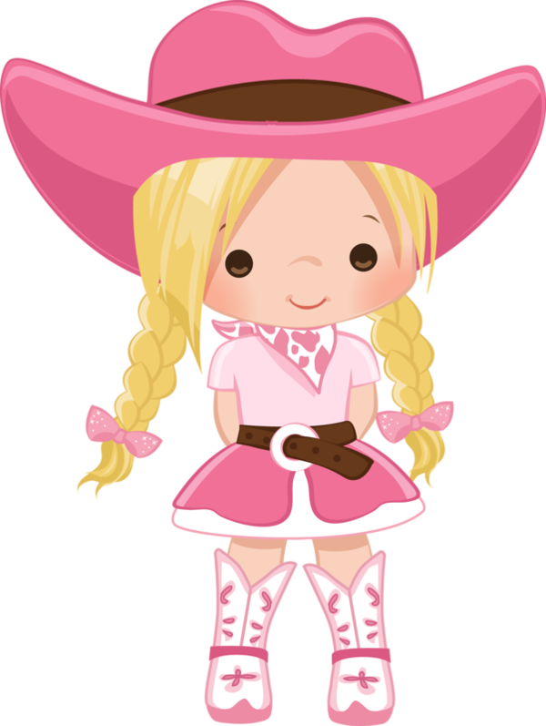 Pin by marina on. Cowgirl clipart pink