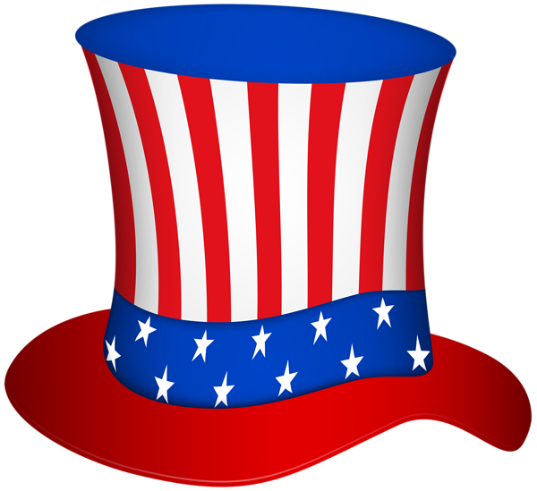 Uncle sam hat png. United states clipart blue
