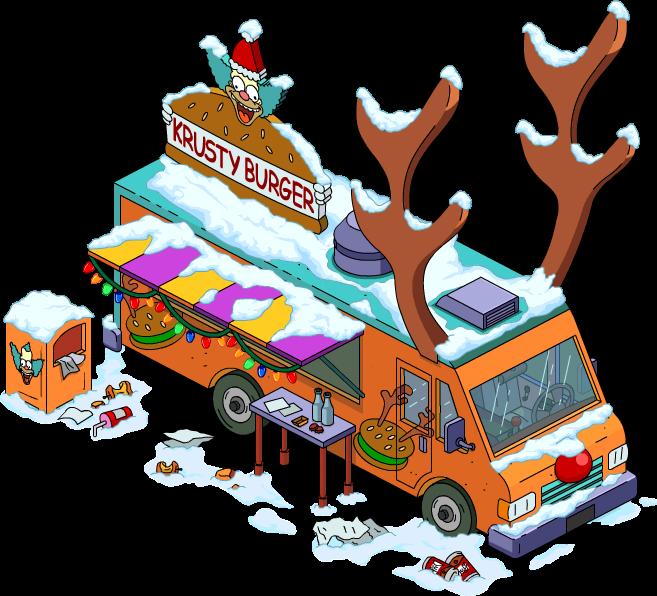 Clipart reindeer barn. Burger truck the simpsons