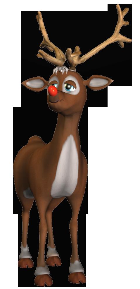 Rudolf d png christmas. Deer clipart watercolor