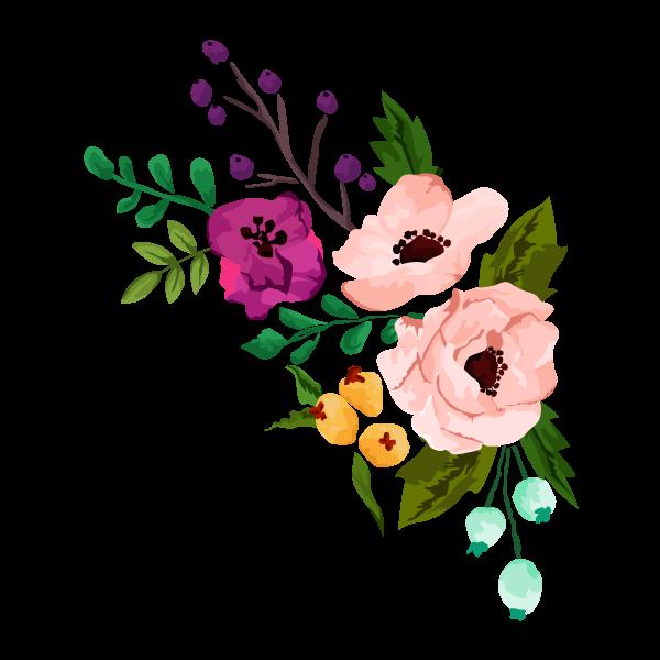 Unionhillinn . Floral clipart rustic flower