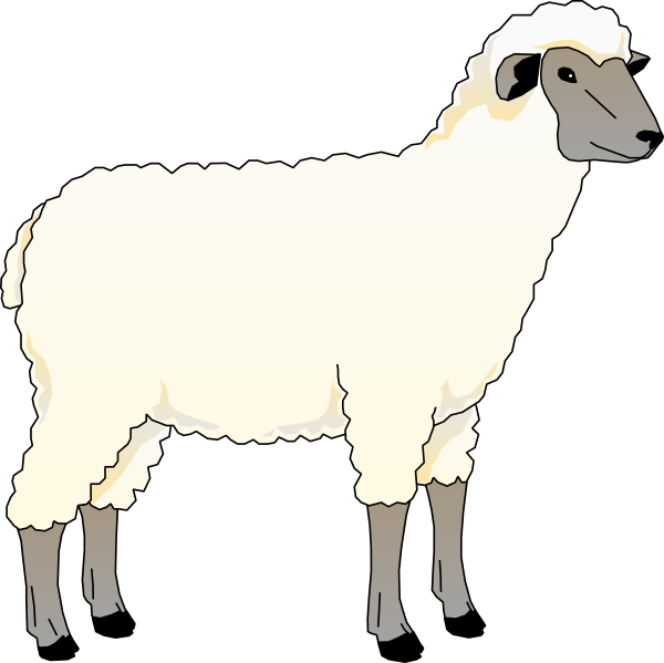 Wooly Sheep Clip Art at Clker
