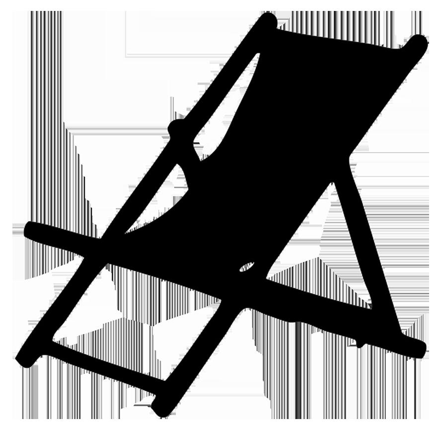 Silhouette deck . Clipart chair plastic