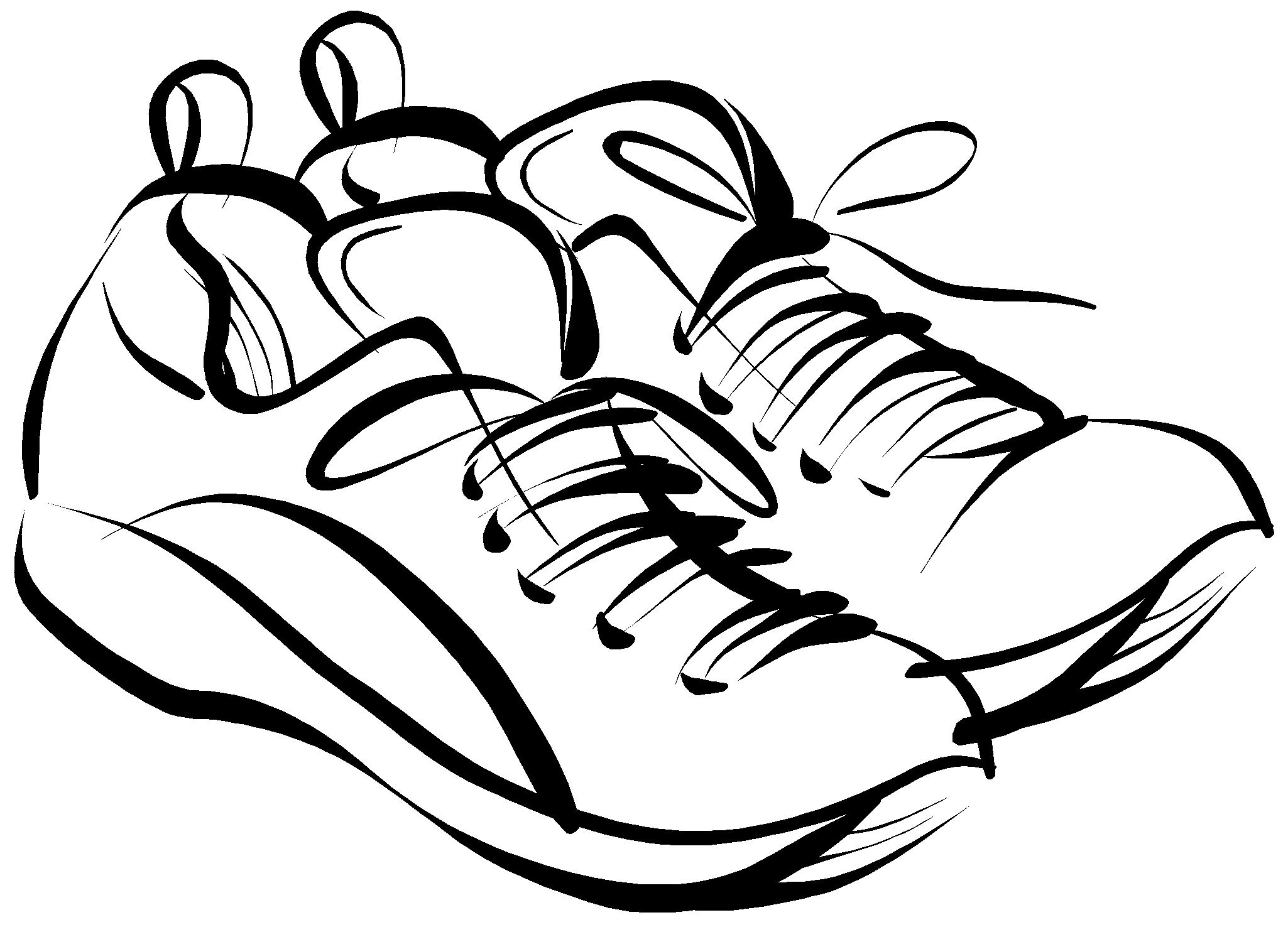 Running shoes drawing panda. Clipart turkey shoe