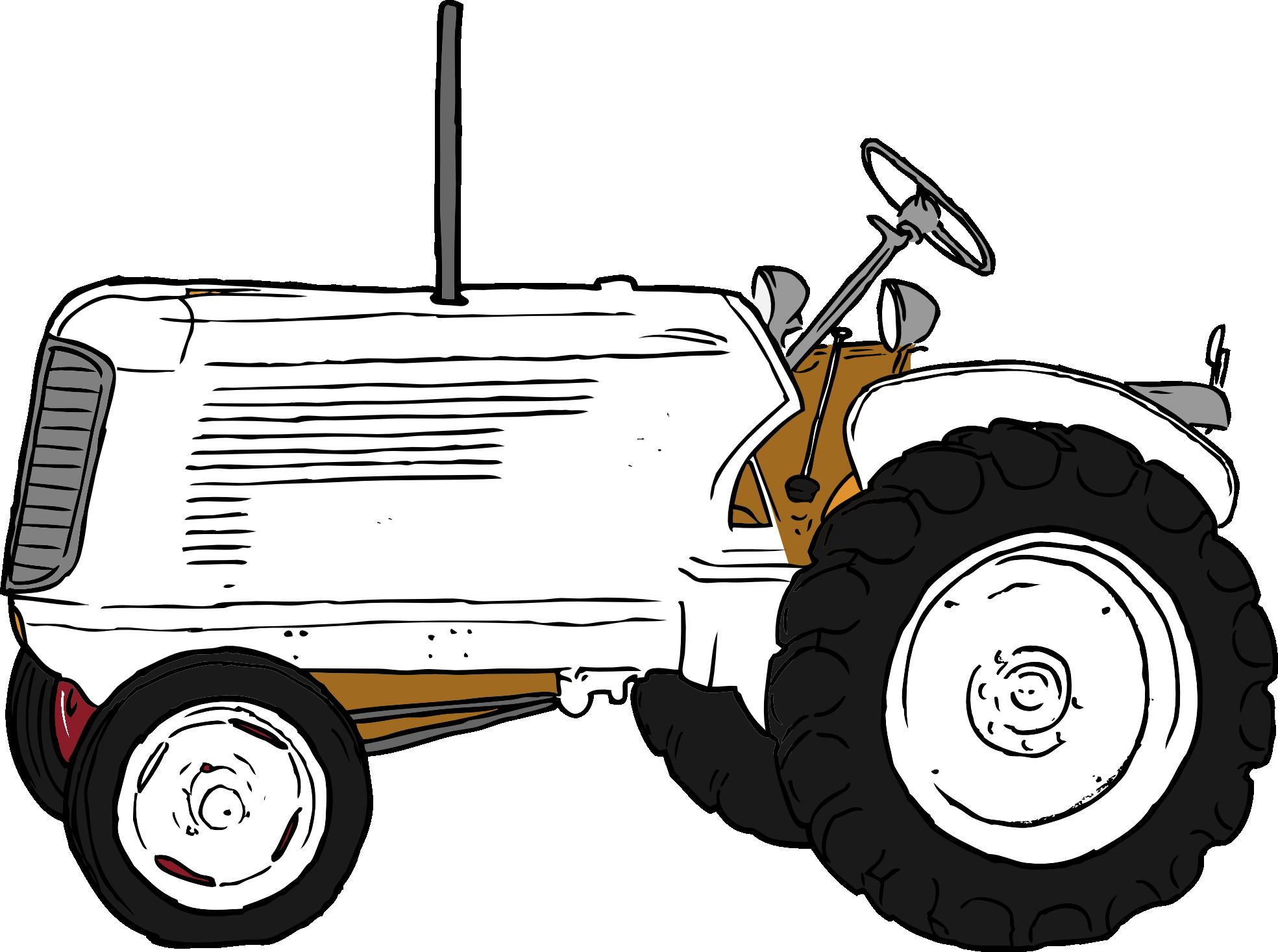Black and white panda. Farmhouse clipart tractor