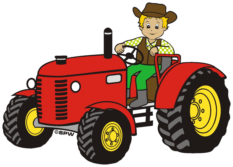 Roter traktor a design. Pumpkin clipart tractor