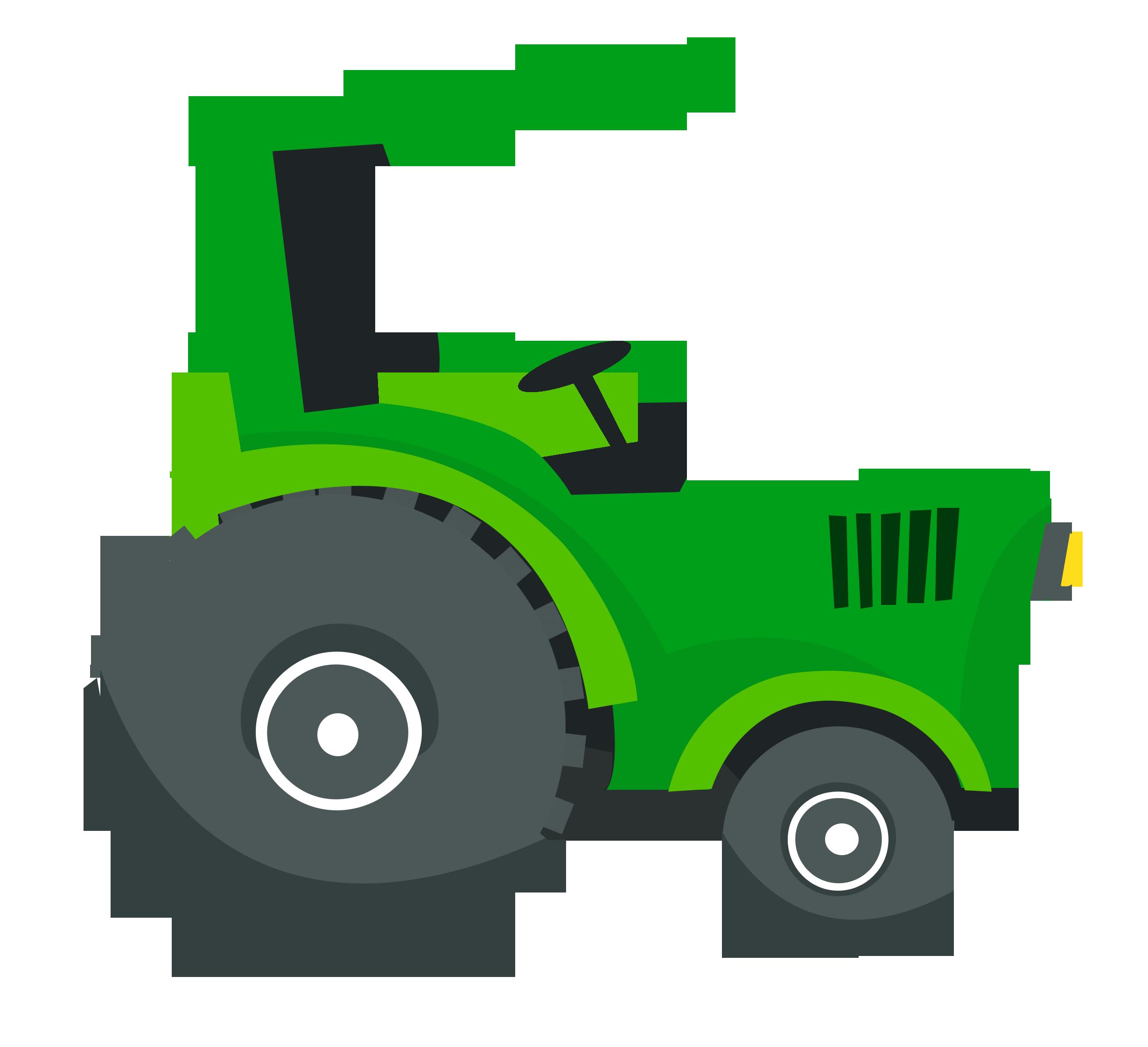 Fazenda cat on the. Farm clipart tractor