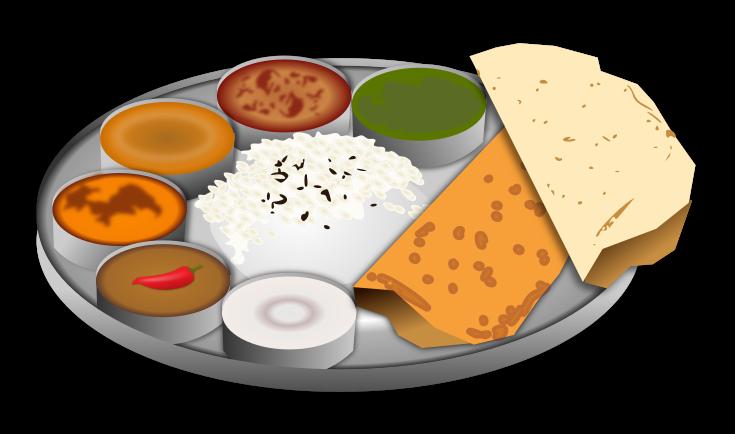 Indian food clipartbarn made. Feast clipart main meal