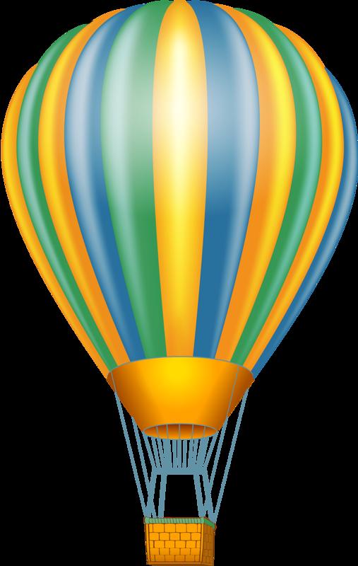 Mongolfiere clip art pinterest. Clipart clouds balloon