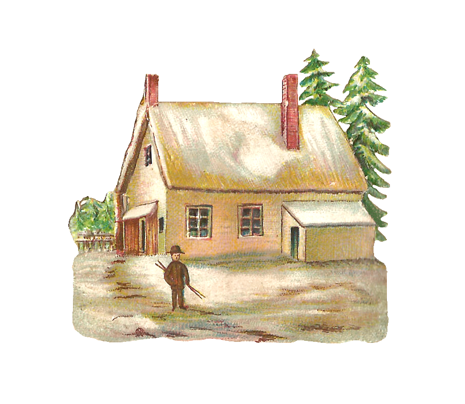 House transparent png pictures. Clipart winter watercolor