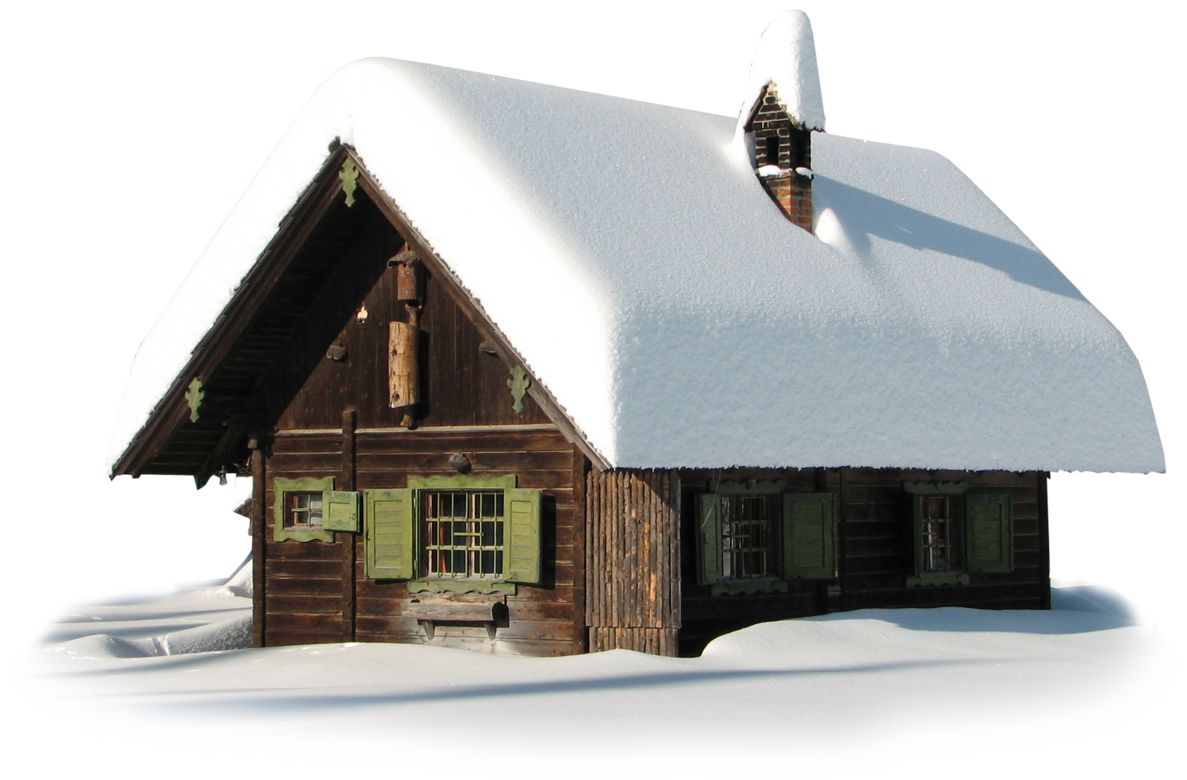 Winter with snow picture. House transparent png