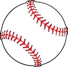 Clipart baseball. Free printable clip art