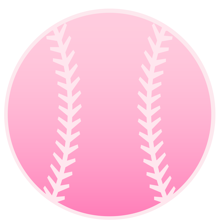 Pink baseball free clip. Softball clipart design